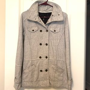 Hurley Double Breasted Grey Knit Jacket